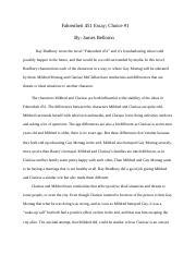Fahrenheit  Essay Rough Draft  Google Docs  Malcolmhouse   Pages Fahrenheit  Essay