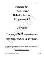 FNCE Assignment1 Key.pdf