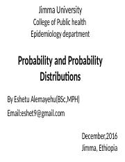 4 Probability and Probability Distributions