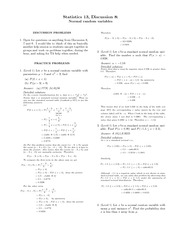 Practice Problems 8 Solutions