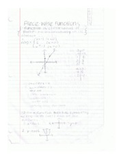 Notes Piecewise functions