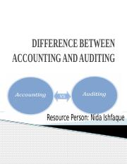 DIFFERENCE BETWEEN ACCOUNTING AND AUDITING.pptx