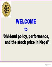 Dividend policy, performance, and the stock price in Nepal.pdf
