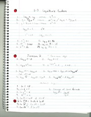 MAT 145 Logarithmic Functions Notes