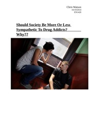 Should Society Be More Or Less Sympathetic To Drug Addicts