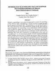 Article_9 pdf - KAUNSELING MENJANA KESEJAHTERAAN HIDUP