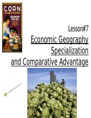 (07.0) Lesson 7 Economic Geography 2.2.16.pptx
