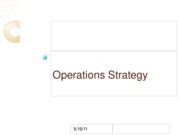 UP IE 197 2 - Operations Strategy for students