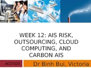 Week 12 Risk Outsourcing and Carbon AIS Student