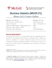 MGCR271 Course Outline Winter 2013