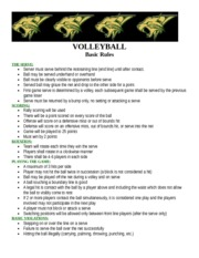 Volleyball Study Guide