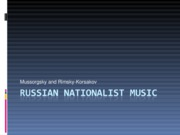 Russian Nationalist Music0