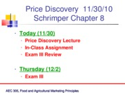 Nov 30th Price Discovery