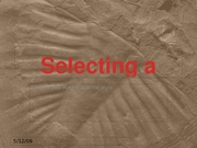 Selecting a Science Elective