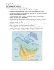 North America Climate Patterns