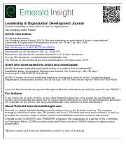 Servant leadership as antecedent of trust in organizations.pdf