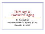 Third Age & Productive Aging