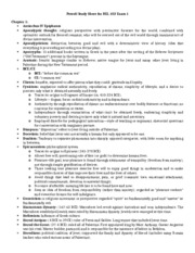 Powell Study Sheet for REL 102 Exam 1