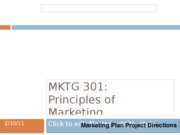 Marketing Plan Directions