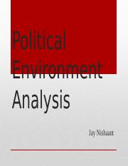 2 Political Environment Analysis Jay