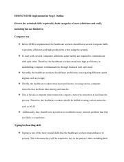 HIMS 670 EHR Implementation Step 3 Outline.docx