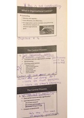 organizational control notes