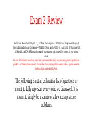 Exam II Review Day