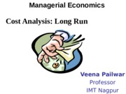 Cost Analysis Long Run PPT