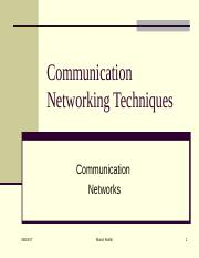 CSC 306 - 6 Network switiching Techniques