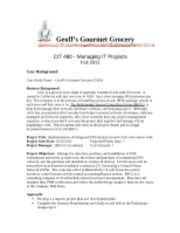 Geoff Case Study Description