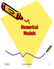 7. Numerical Models