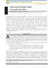 The trouble with HRM.pdf