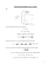 Practice Problems in DISTILLATION part A - Solutions
