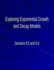 8.5-8.6 Exponential Growth and Decay Models.ppt