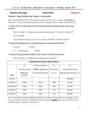 ACC 311 - In Class Quiz 5 - Answer Key -S