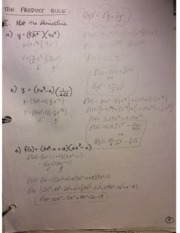 Calculus 12 Product and Quotient rules
