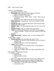 Study guide - Final