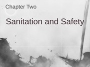 Ch 2 Sanitation and Safety