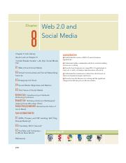 11. Chapter 8 - Web 2.0 and Social Media