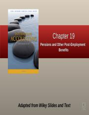 Chapter 19  Pensions and Other Employee Future Benefits  eZone
