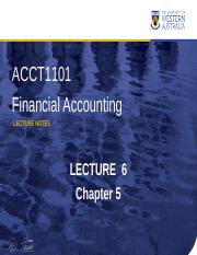 Week 6 - Ch5 ACC LECTURE