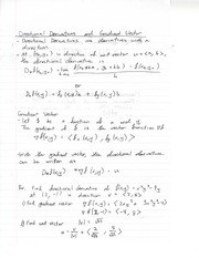 Formulas and Tips in Directional Derivatives and Gradient Vectors
