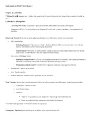 MGMT 310A Exam 3 Study Guide