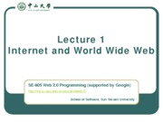 Lecture 01 Internet and WWW