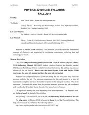 PHYS221L_Lab_Syllabus_fall2011