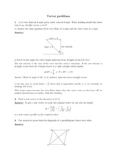 Vector problems study guide