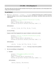 Lecture Notes on Split Method