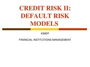 L8 Default risk models