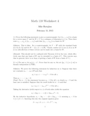 Worksheet 4 Solutions