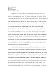 Intro to Religion Hinduism Paper